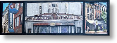 #62 Going To The Franklin Theatre Metal Print by Alison Poland