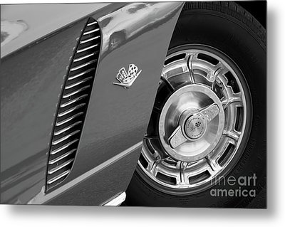 Metal Print featuring the photograph '62 In Black And White by Dennis Hedberg
