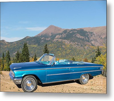 63 Ford Convertible Metal Print