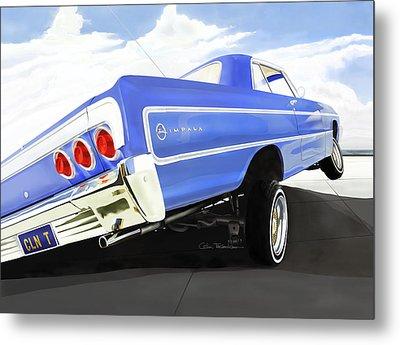 64 Impala Lowrider Metal Print by Motorvate Studio