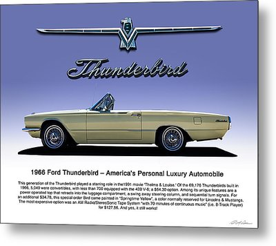 66 T-bird Display Piece Metal Print by Douglas Pittman