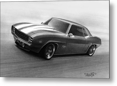 '69 Camaro Metal Print by Tim Dangaran