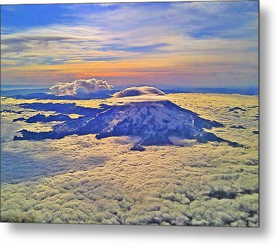 Metal Print featuring the photograph #69 Mt Rainier Sunrise by Jack Moskovita