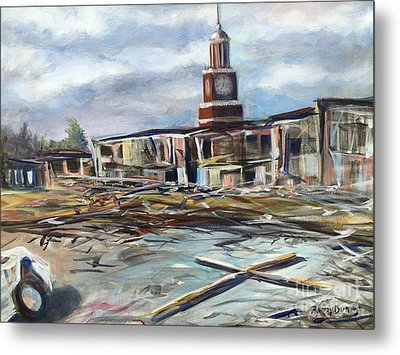 Metal Print featuring the painting Union University Jackson Tennessee 7 02 P M by Randol Burns