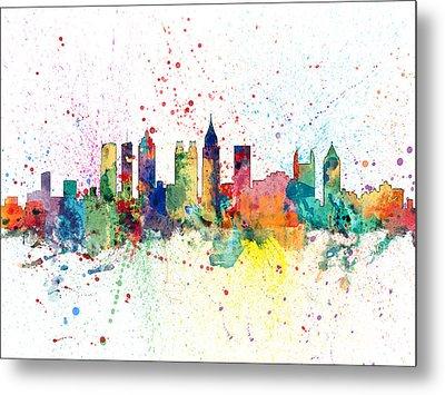 Atlanta Georgia Skyline Metal Print by Michael Tompsett