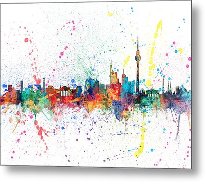 Berlin Germany Skyline Metal Print by Michael Tompsett
