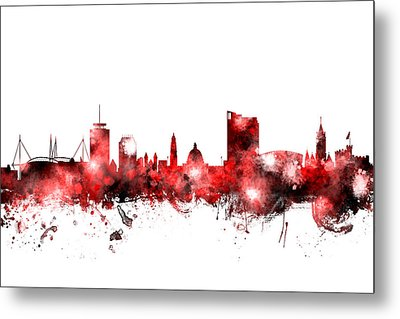 Cardiff Wales Skyline Metal Print by Michael Tompsett