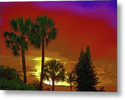 Metal Print featuring the digital art 7- Holiday by Joseph Keane