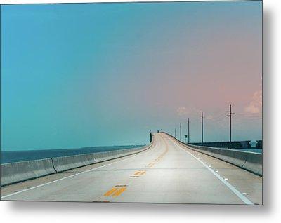 7 Mile Bridge Metal Print by Art Spectrum