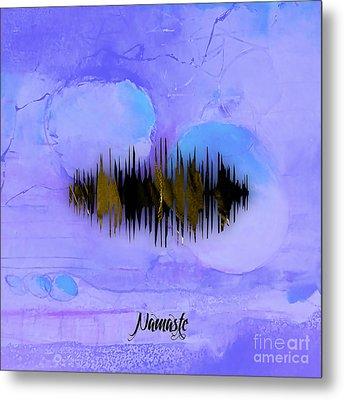 Namaste Spoken Soundwave Metal Print by Marvin Blaine