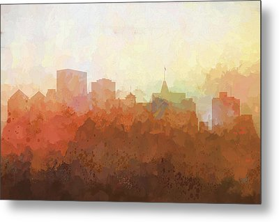 Metal Print featuring the digital art Oakland California Skyline by Marlene Watson