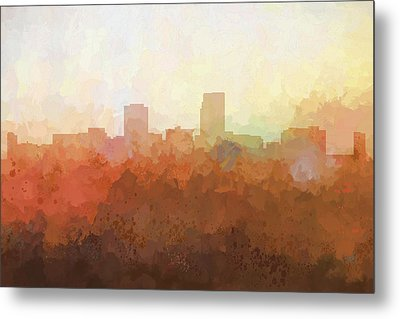 Metal Print featuring the digital art Omaha Nebraska Skyline by Marlene Watson
