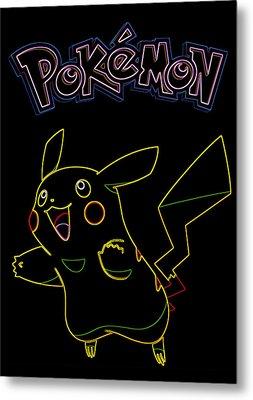 Pokemon - Pikachu Metal Print