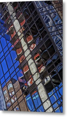 Reflective Glass Architecture Metal Print by Robert Ullmann