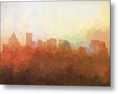 Metal Print featuring the digital art Salem Oregon Skyline by Marlene Watson
