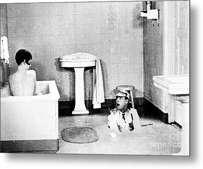 Silent Still: Bathing Metal Print by Granger