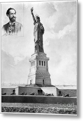 Statue Of Liberty, 1886 Metal Print by Granger