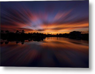Sunrise At Naples, Florida Metal Print by Peter Lakomy