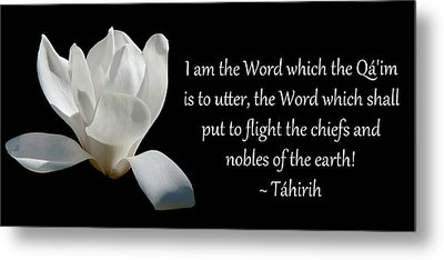 Tahirih The Pure One Metal Print by Baha'i Writings As Art