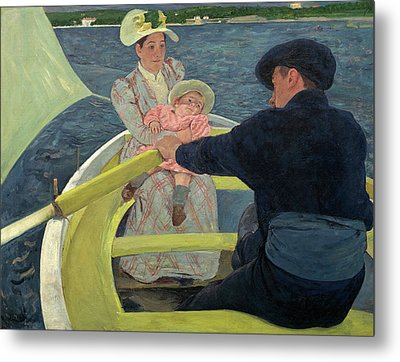 The Boating Party Metal Print by Mary Cassatt