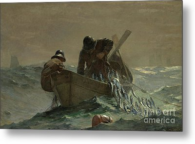 The Herring Net Metal Print by Winslow Homer