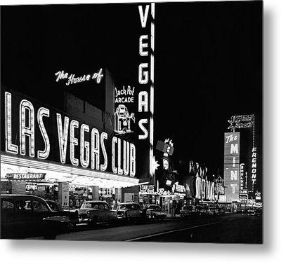 The Las Vegas Strip Metal Print by Underwood Archives
