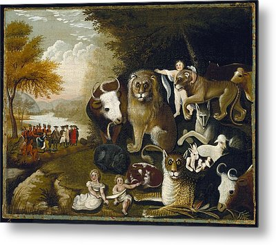 The Peaceable Kingdom Metal Print
