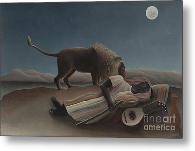 The Sleeping Gypsy Metal Print