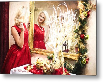 Vintage Val Home For The Holidays Metal Print by Jill Wellington