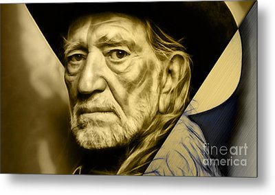 Willie Nelson Collection Metal Print by Marvin Blaine