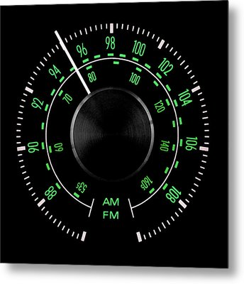 70s Fm Tuner Dial Metal Print by Jim Hughes