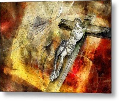 Jesus Christ - Religious Art Metal Print by Elena Kosvincheva