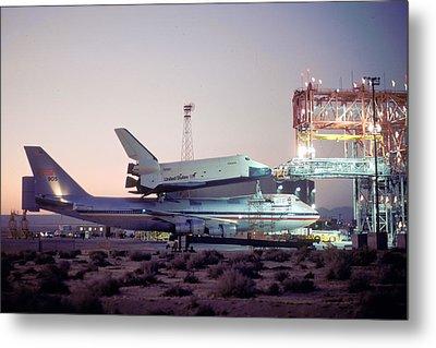 747 With Space Shuttle Enterprise Before Alt-4 Metal Print by Brian Lockett