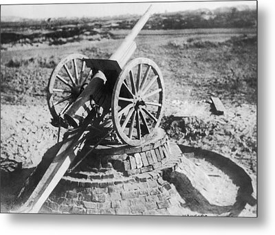 75 Mm Anti-aircraft Gun Metal Print