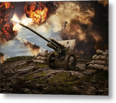 76 Mm Divisional Gun Wwii Artillery Metal Print by Anton Egorov