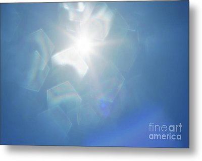 Abstract Sunlight Metal Print by Atiketta Sangasaeng