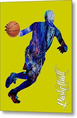 Basketball Collection Metal Print