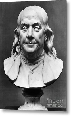 Benjamin Franklin (1706-1790) Metal Print by Granger