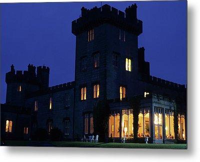 Dromoland Castle At Night Metal Print
