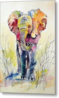 Elephant Metal Print by Kovacs Anna Brigitta
