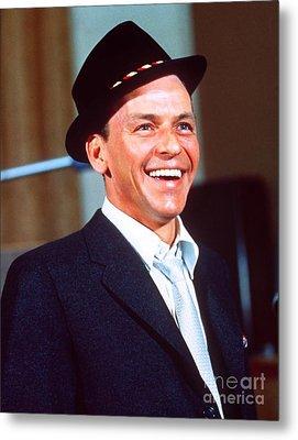 Frank Sinatra - Capitol Records Recording Studio Metal Print by The Titanic Project