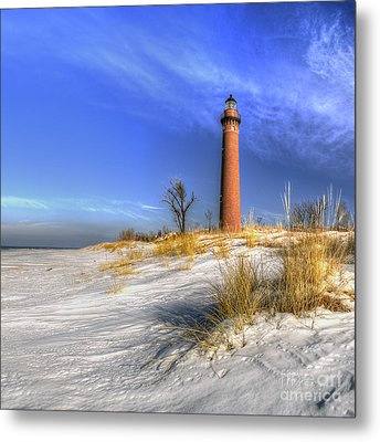 Little Sable Lighthouse Metal Print by Twenty Two North Photography