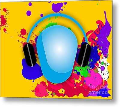 Music Metal Print by Marvin Blaine