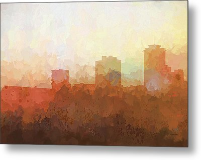 Metal Print featuring the digital art New Orleans Louisiana Skyline by Marlene Watson