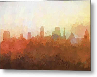 Metal Print featuring the digital art Sacramento California Skyline by Marlene Watson