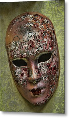 Venetian Carnaval Mask Metal Print by David Smith