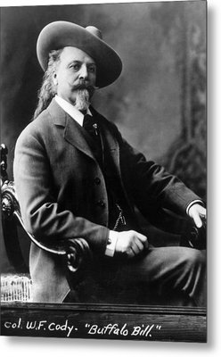 William F. Cody Aka Buffalo Bill Cody Metal Print by Everett