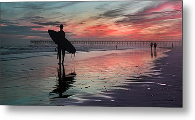 84x42 Searching For A Perfect Wave  Metal Print