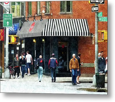 8th Ave. And W 22nd Street Chelsea Metal Print by Susan Savad