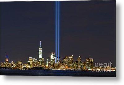 9-11 Nyc Skyline  Metal Print by Jerry Fornarotto